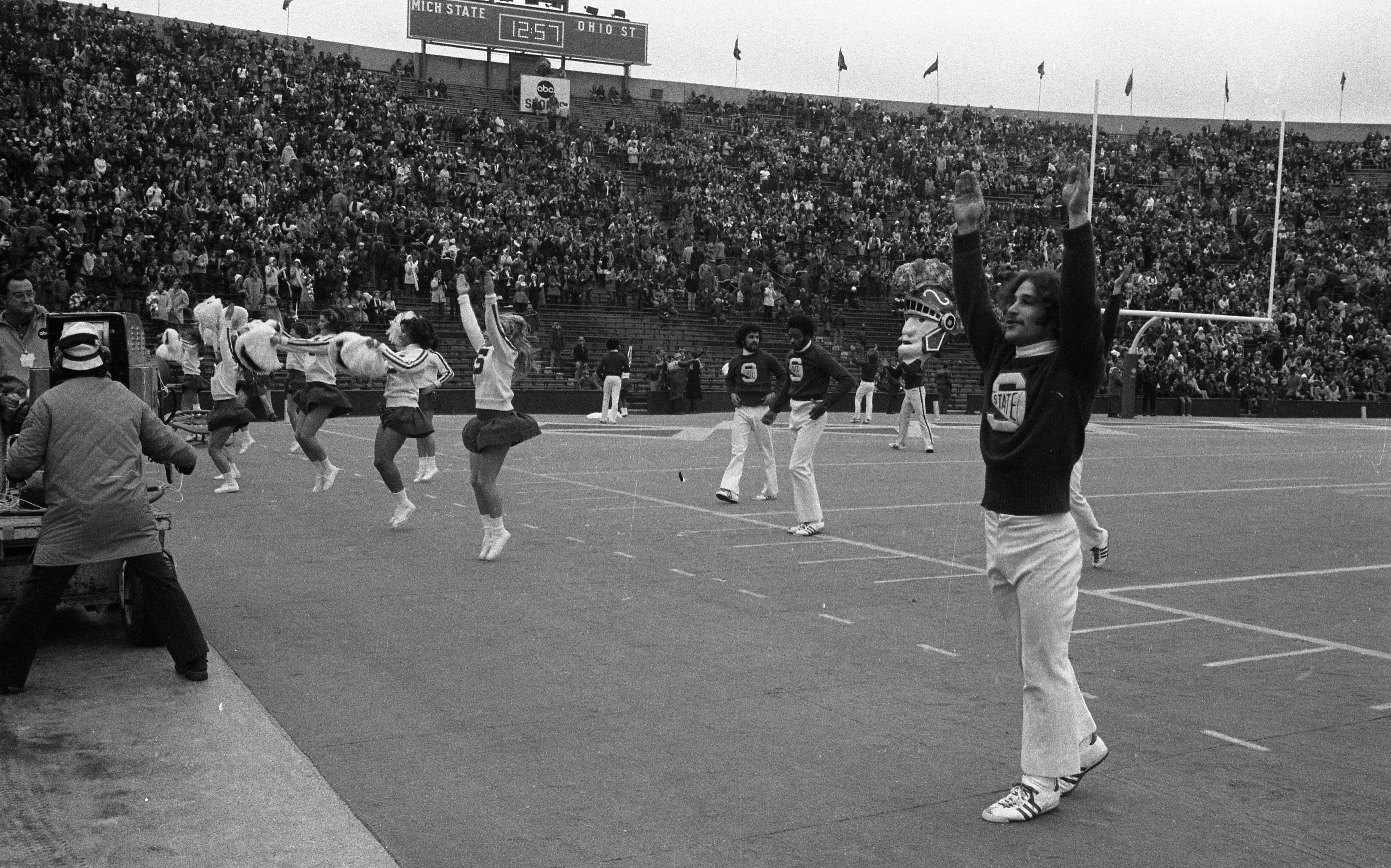On the Banks of the Red Cedar| Cheerleaders at the MSU vs ...