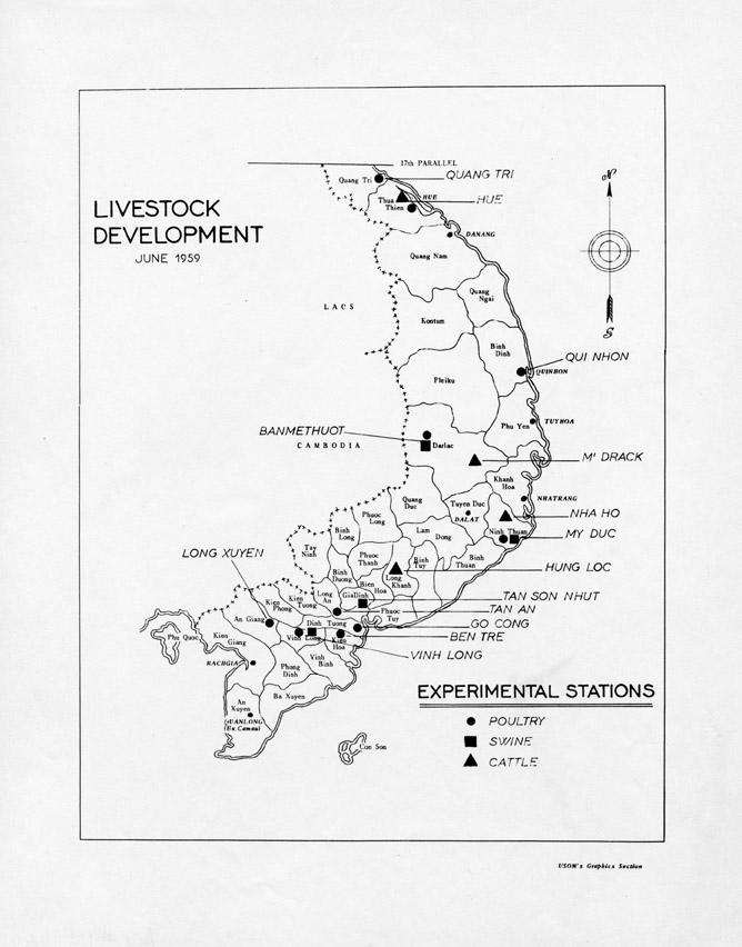 Livestock Development Map of South Vietnam, June 1959
