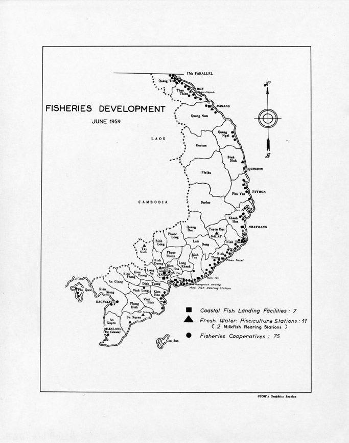 South Vietnam Fisheries Development Map, June 1959