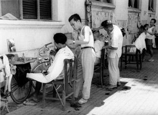 Vietnam. Businesses. Barbershop.