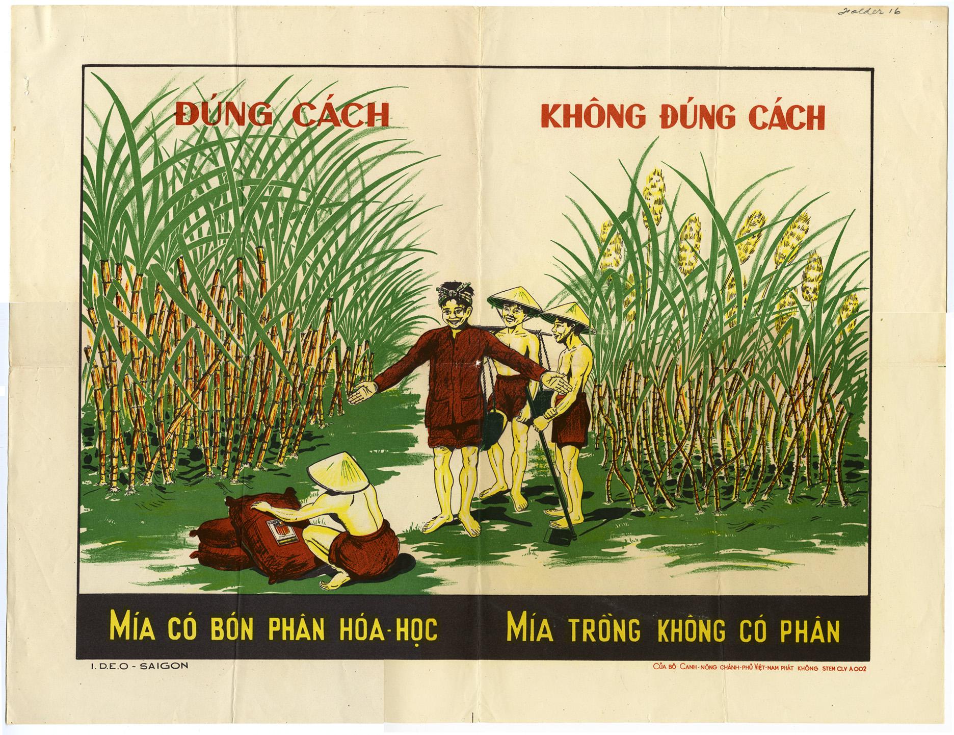 Fertilizing instructional poster, undated